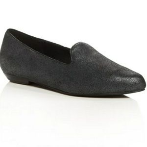 Eileen Fisher Ariel Pointed Nubuck Loafer Flat 6.5